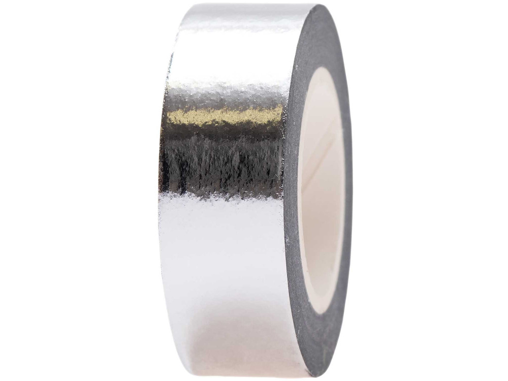 Metallic washi tape - Paper Poetry - Silver, 15 mm x 10 m