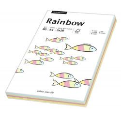 Papier kolorowy 80g - Rainbow - pastelowy, A4, 100 szt.