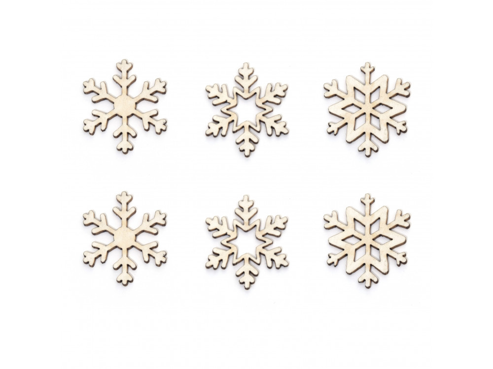 Cardboard decorations - Simply Crafting - mini snowflakes 3, 6 pcs.