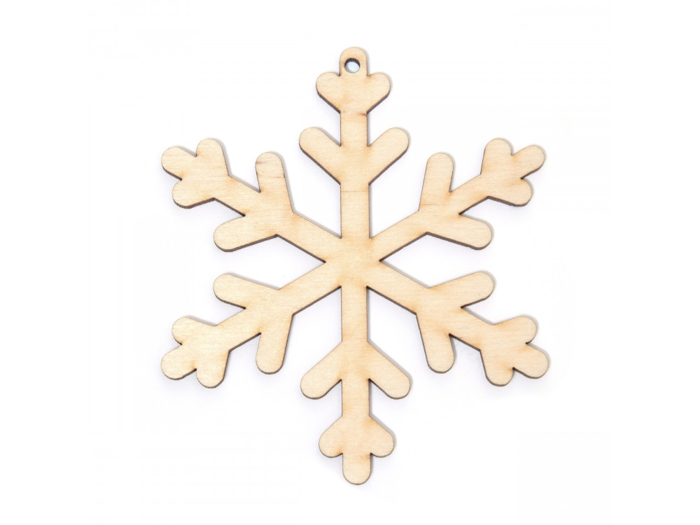 Wooden snowflake pendant - Simply Crafting - 9 cm