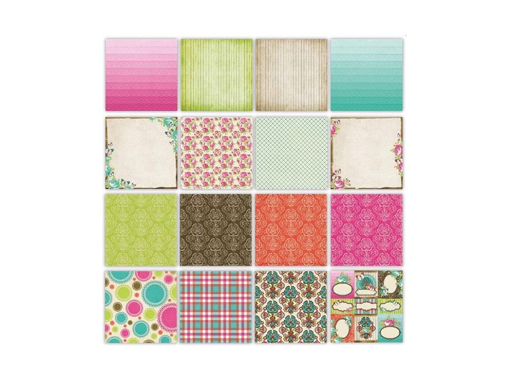 Zestaw papierów 30,5 x 30,5 cm – Boho Chic (32 Kartki)