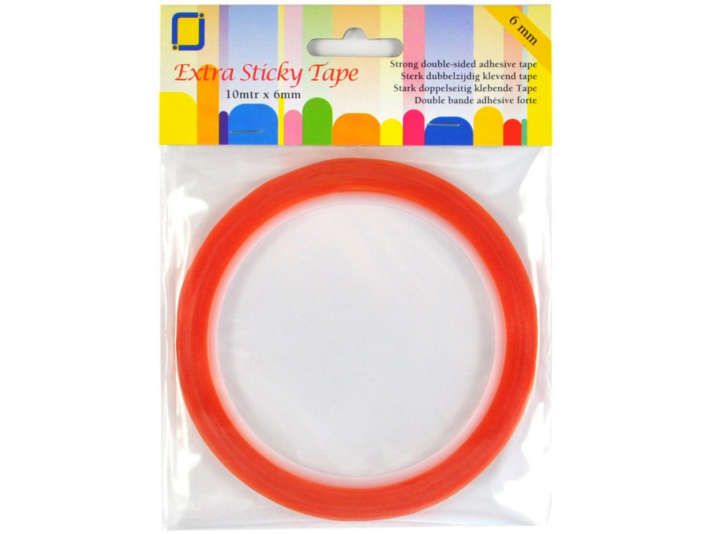 Double-sided adhesive tape - transparent, 6 mm x 10 m