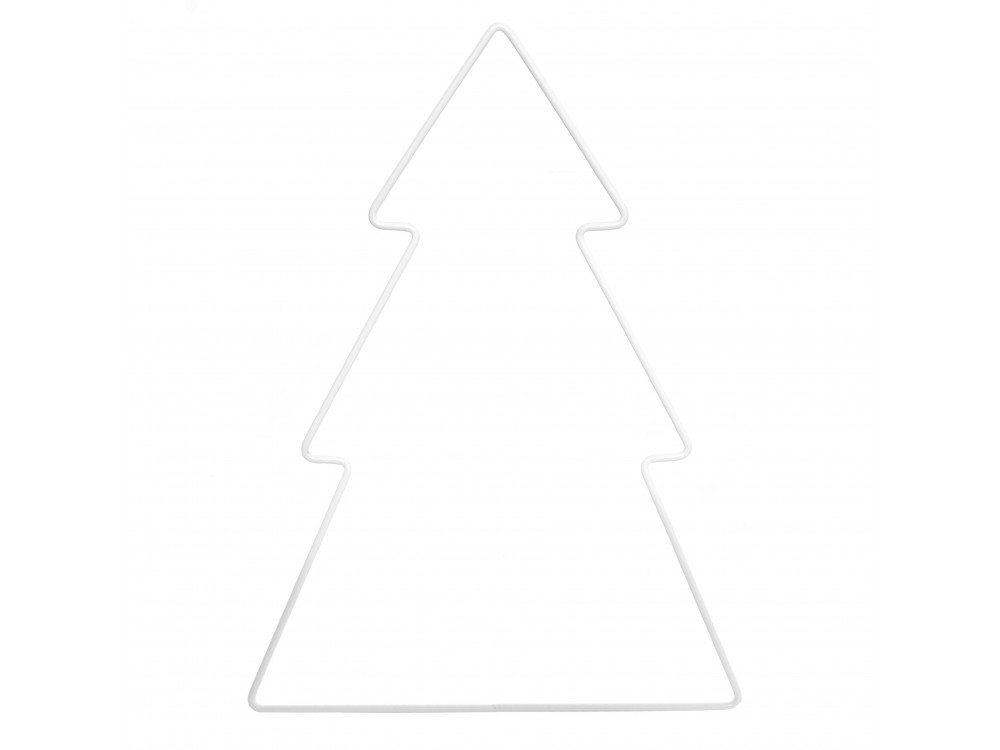 Metal Christmas tree - white, 27 x 21 cm