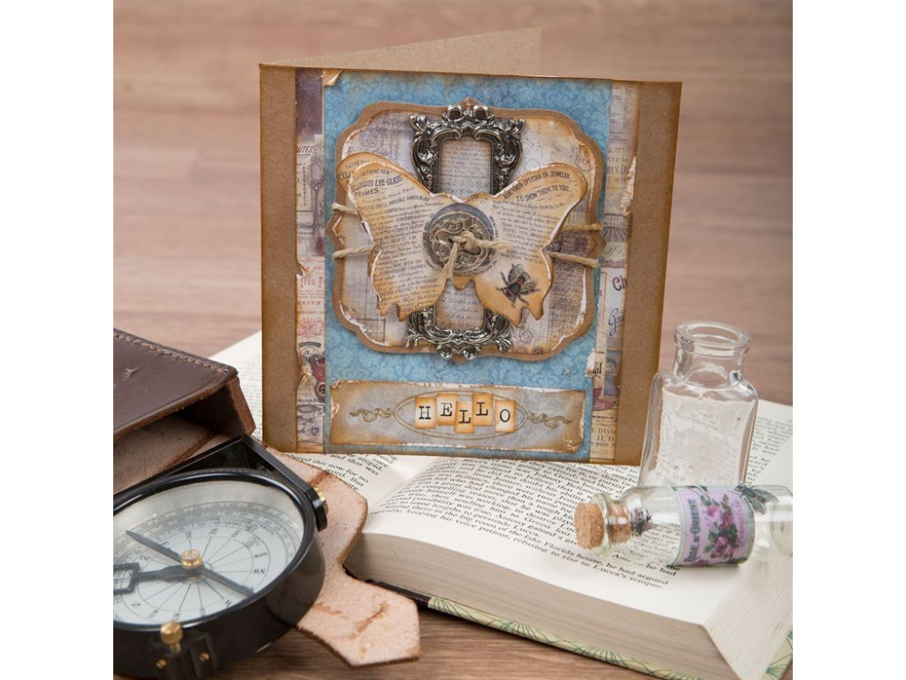 Zestaw kwadratowych kart i kopert - Papermania - Recycled Kraft, 50 szt.
