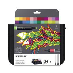 Student Designer Promarker set - Winsor & Newton - 24 pcs.