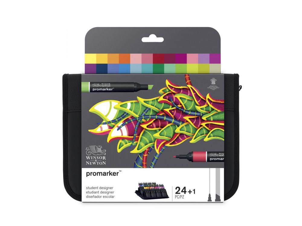 Zestaw Promarker Student Designer - Winsor & Newton - 24 szt.