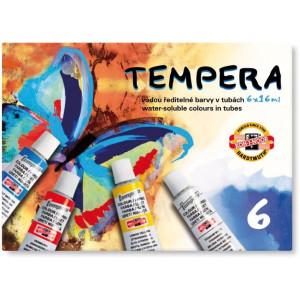Farby tempera 6 kolorów x 16ml KOH-I-NOOR