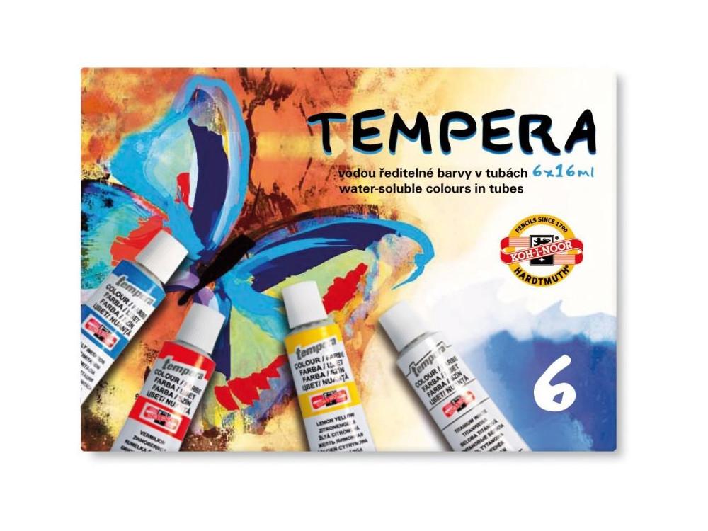 Farby tempera - Koh-I-Noor - 6 kolorów x 16 ml