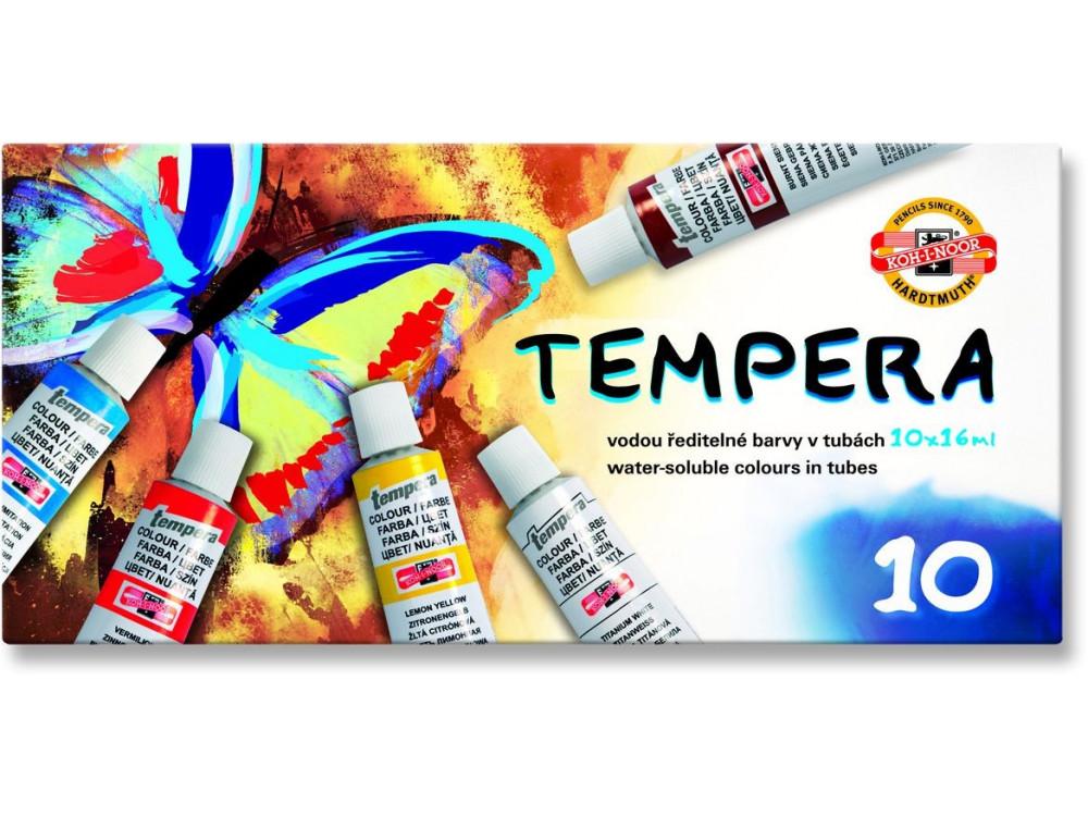 Farby tempera - Koh-I- Noor - 10 kolorów x 16 ml