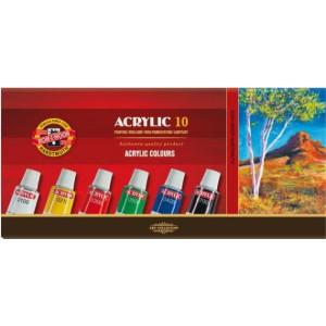 Farby akrylowe 10 kol. 16ml KOH-I-NOOR Acrylic