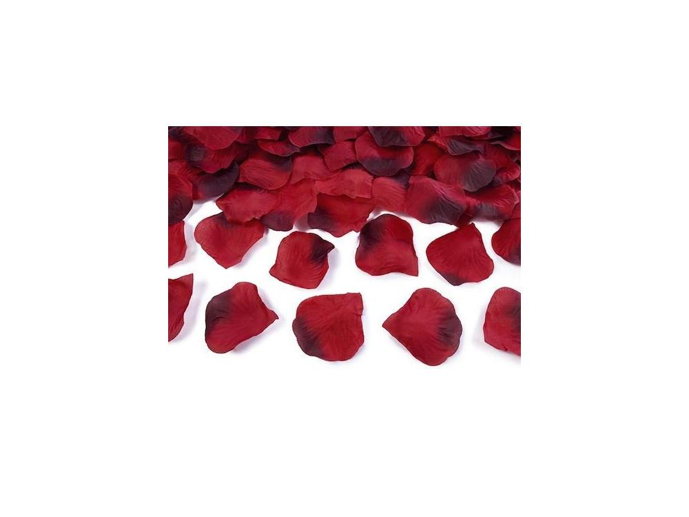 Płatki róż w woreczku - czerwone ombre, 500 szt.