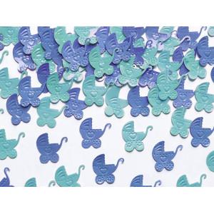 Konfetti - wózek niebieski i błękit 15g