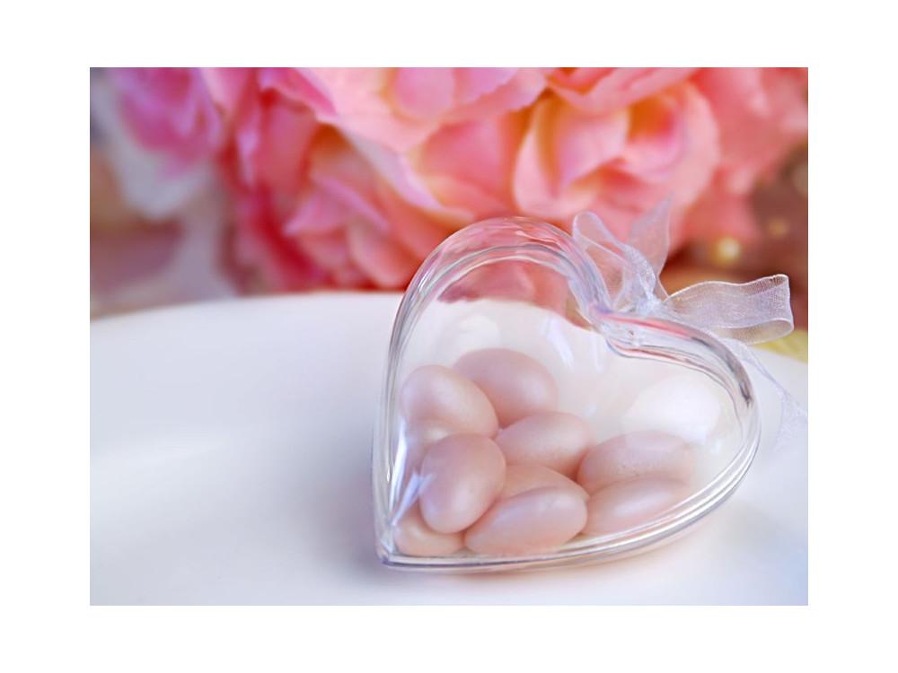 Pudełeczka dla gości serce - przezroczyste, 3 szt.