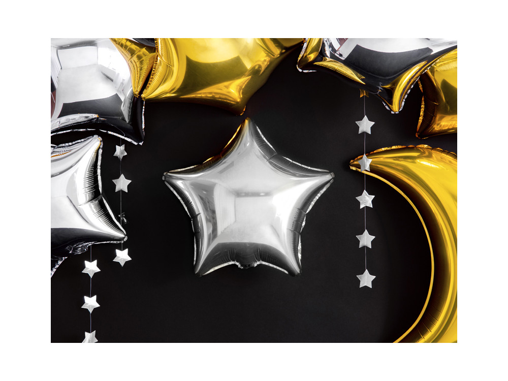 Garland Stars - silver, 3,6 m