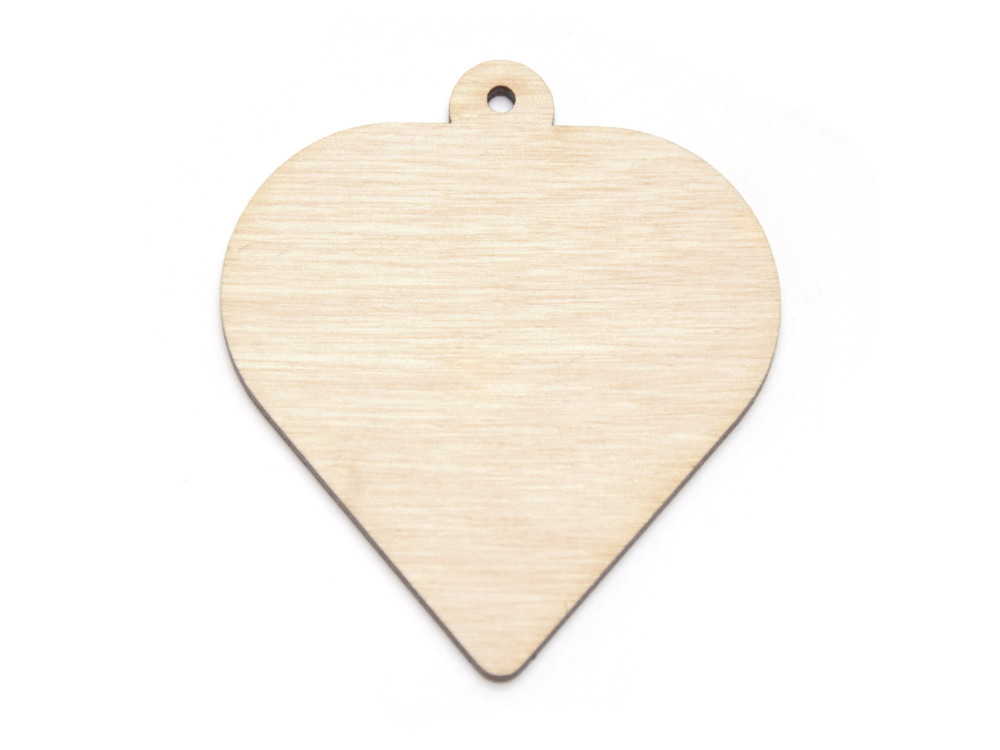 Wooden heart pendant - Simply Crafting - 7 cm
