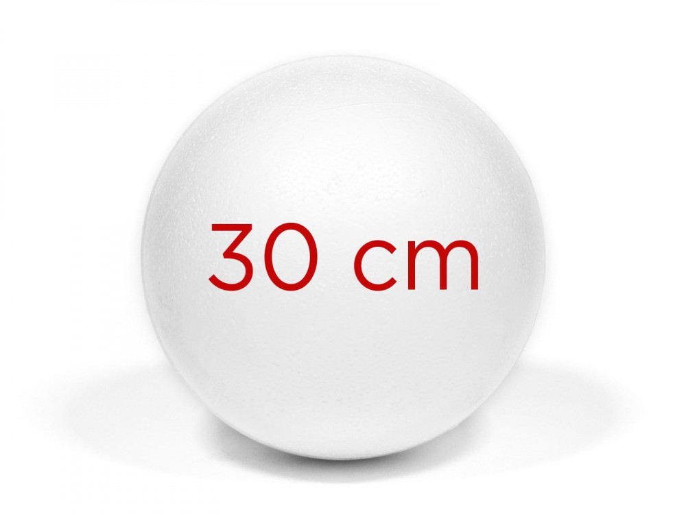 Kula, bombka styropianowa - 30 cm