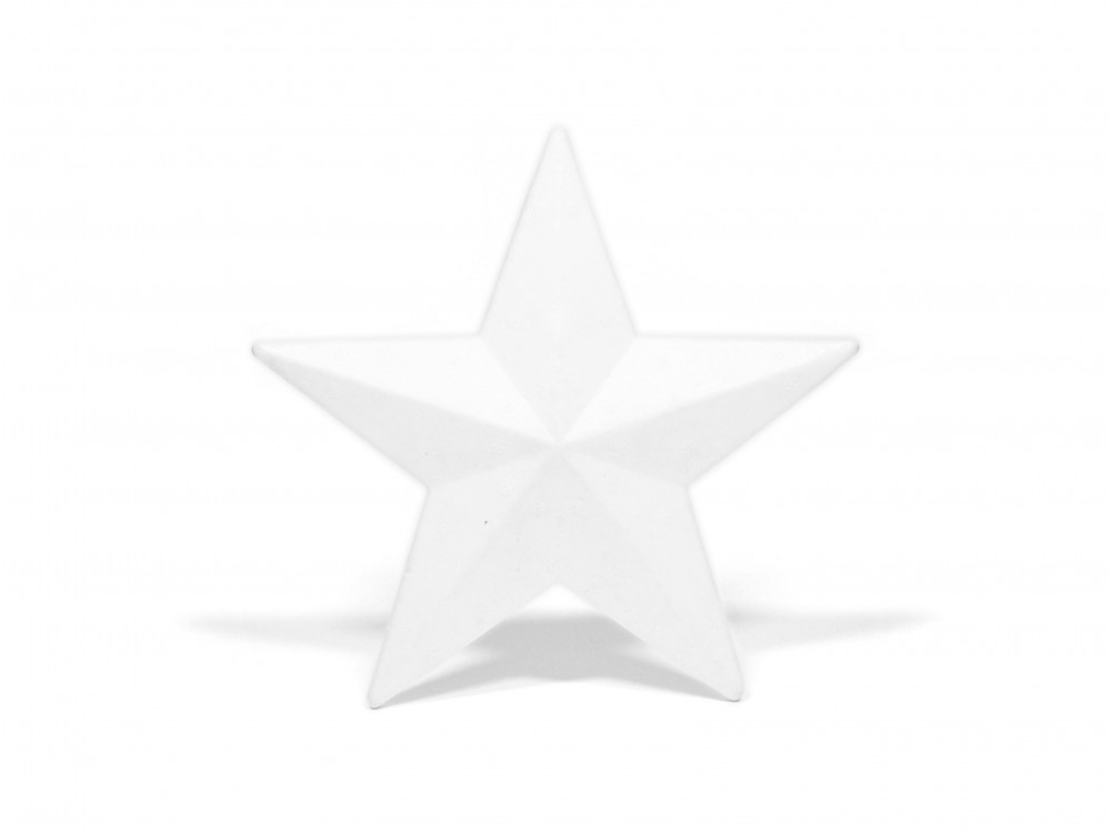 Gwiazda styropianowa - 13 cm