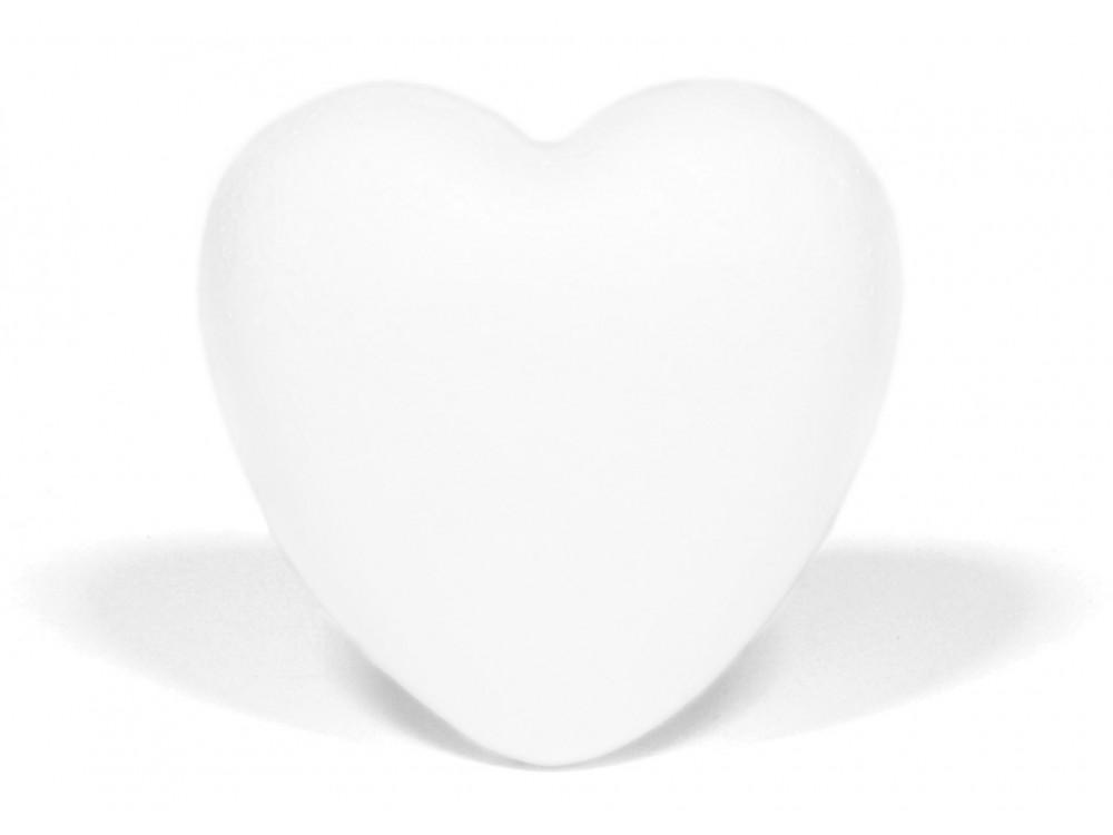 Serce styropianowe - pełne, 7,5 cm
