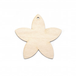 Wooden flower pendant - Simply Crafting - 7 cm