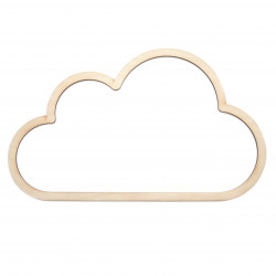 Wooden macrame base - Simply Crafting - cloud, 30 cm