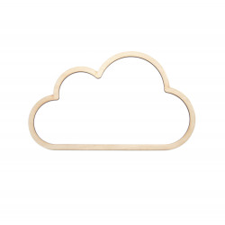Wooden macrame base - Simply Crafting - cloud, 18 cm