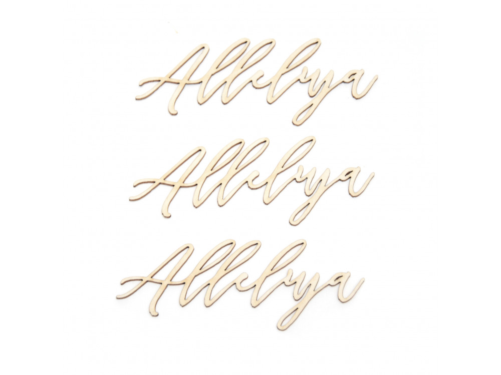 Cardboard decorations - Simply Crafting - Alleluja 1, 3 pcs