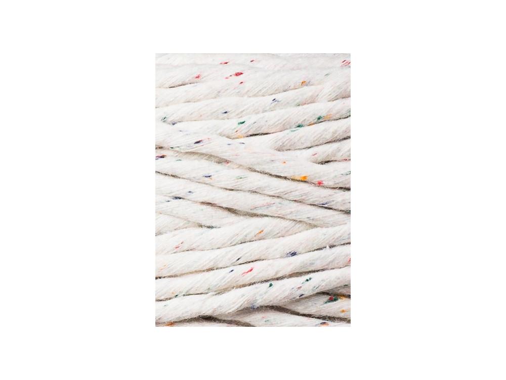 Cotton cord for macrames - Bobbiny - Rainbow Dust, 5 mm, 100 m
