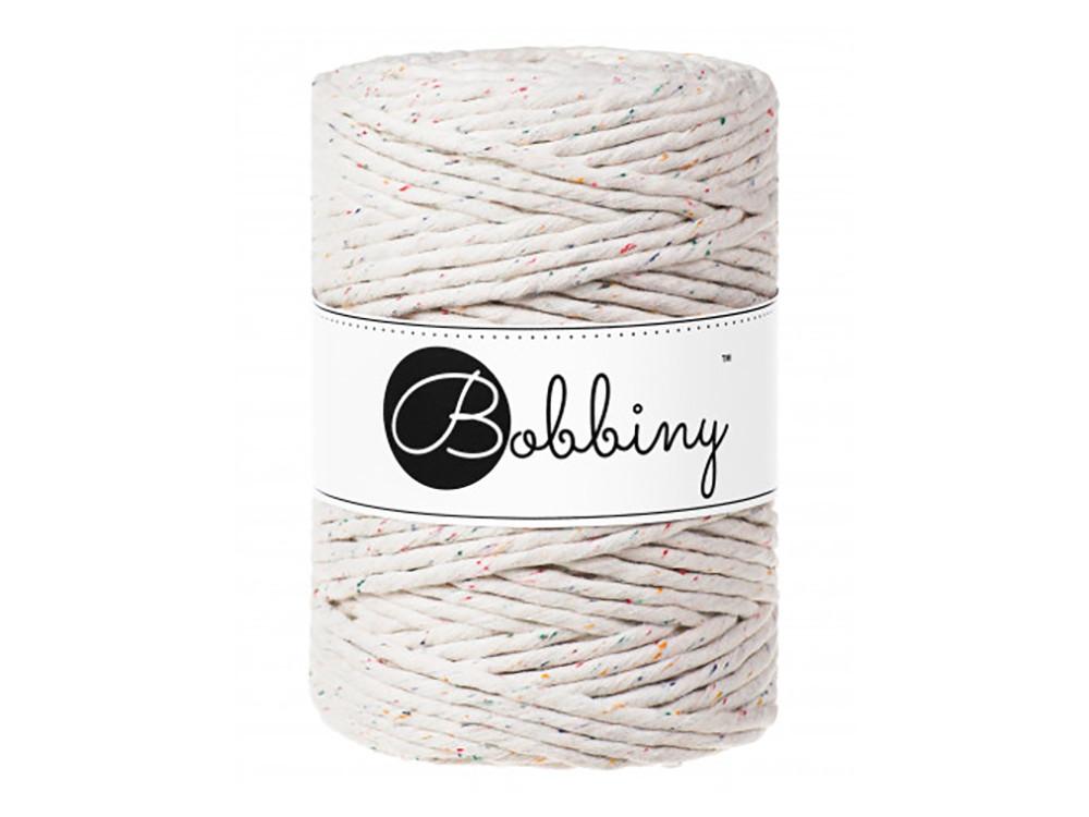 Cotton cord for macrames - Bobbiny - Rainbow Dust, 1,5 mm, 100 m