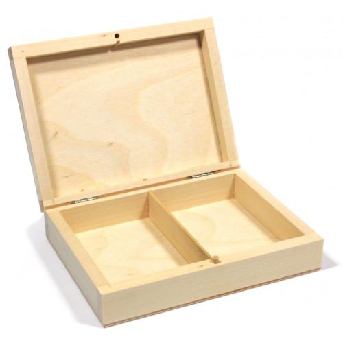 Drewniane pudełko na 2 talie kart