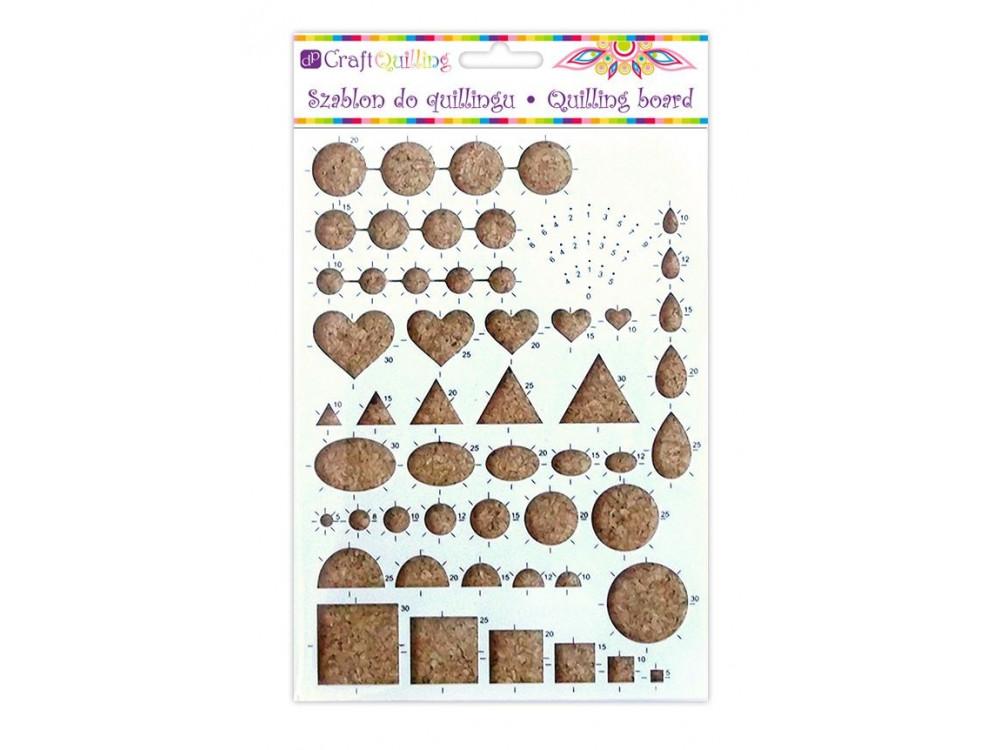 Szablon do quillingu - różne kształty