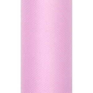Tiul dekoracyjny 15 cm x 9 m j. róż 081