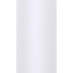 Tiul dekoracyjny 15 cm - biały, 9 m