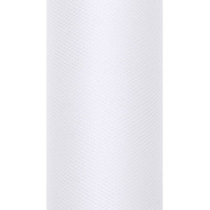 Tiul dekoracyjny 15 cm x 9 m biały 008