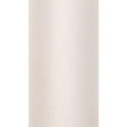 Tiul dekoracyjny 15 cm - kremowy, 9 m