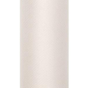 Tiul dekoracyjny 15 cm x 9 m kremowy 079