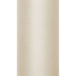 Tiul dekoracyjny 15 cm - beżowy, 9 m