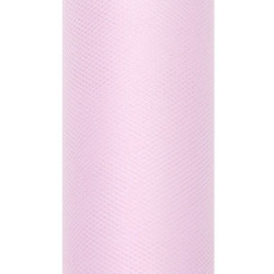 Tiul dekoracyjny 15 cm - jasnoróżowy, 9 m