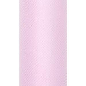 Tiul dekoracyjny 15 cm x 9 m j. różowy 081J