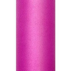 Tiul dekoracyjny 15 cm - fuksjowy, 9 m