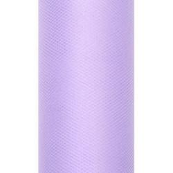 Tiul dekoracyjny 15 cm - liliowy, 9 m
