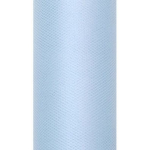 Tiul dekoracyjny 15 cm x 9 m błękit 011