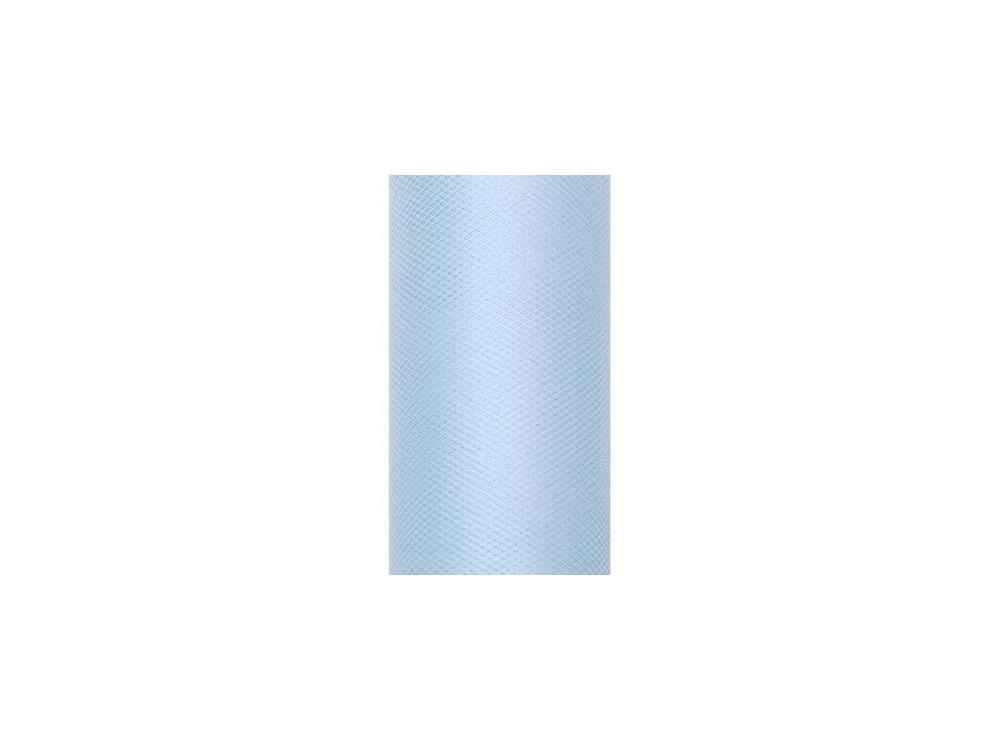 Tiul dekoracyjny 15 cm - błękitny, 9 m