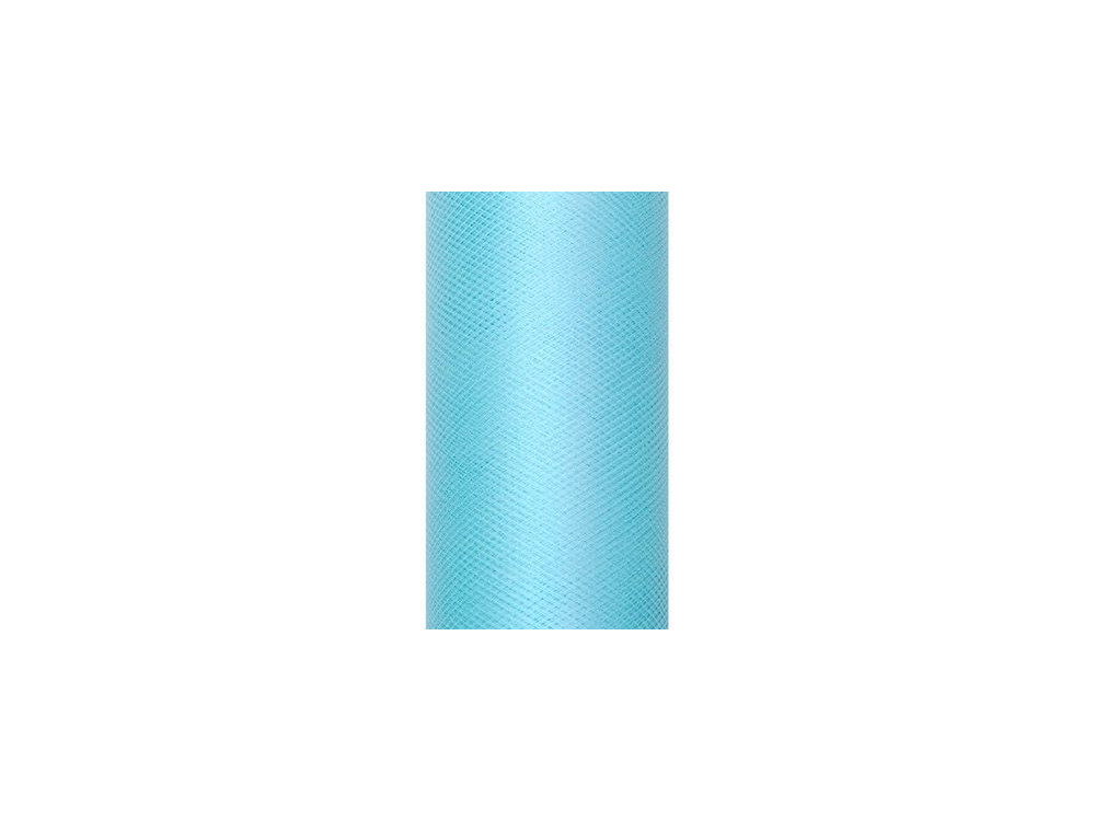 Tiul dekoracyjny 15 cm - turkusowy, 9 m