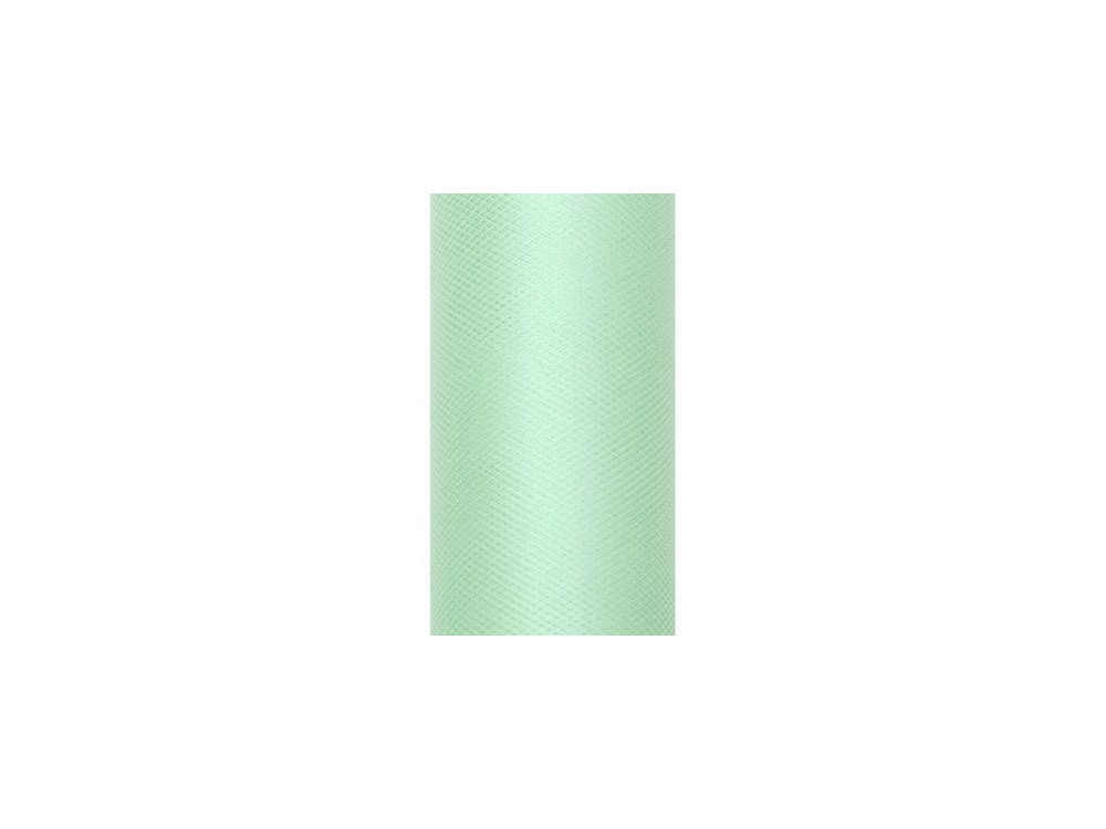 Tiul dekoracyjny 15 cm - miętowy, 9 m