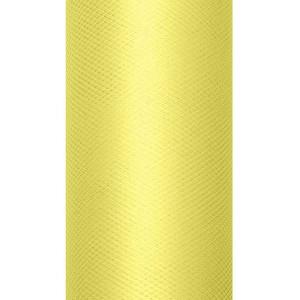 Tiul dekoracyjny 15 cm x 9 m j. żółty 084J
