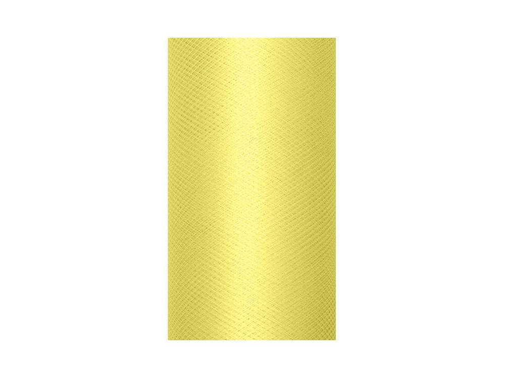 Tiul dekoracyjny 15 cm - jasnożółty, 9 m