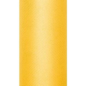 Tiul dekoracyjny 15 cm x 9 m żółty 009