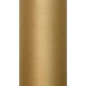Tiul dekoracyjny 15 cm x 9 m karmel 085