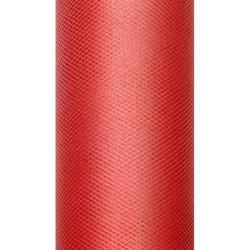 Tiul dekoracyjny 15 cm - czerwony, 9 m