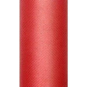 Tiul dekoracyjny 15 cm x 9 m czerwony 007